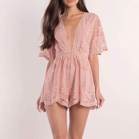 22a0f3354aea LAST TWO Honey Punch Blush Romper